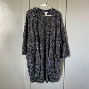Long, cozy cardigan